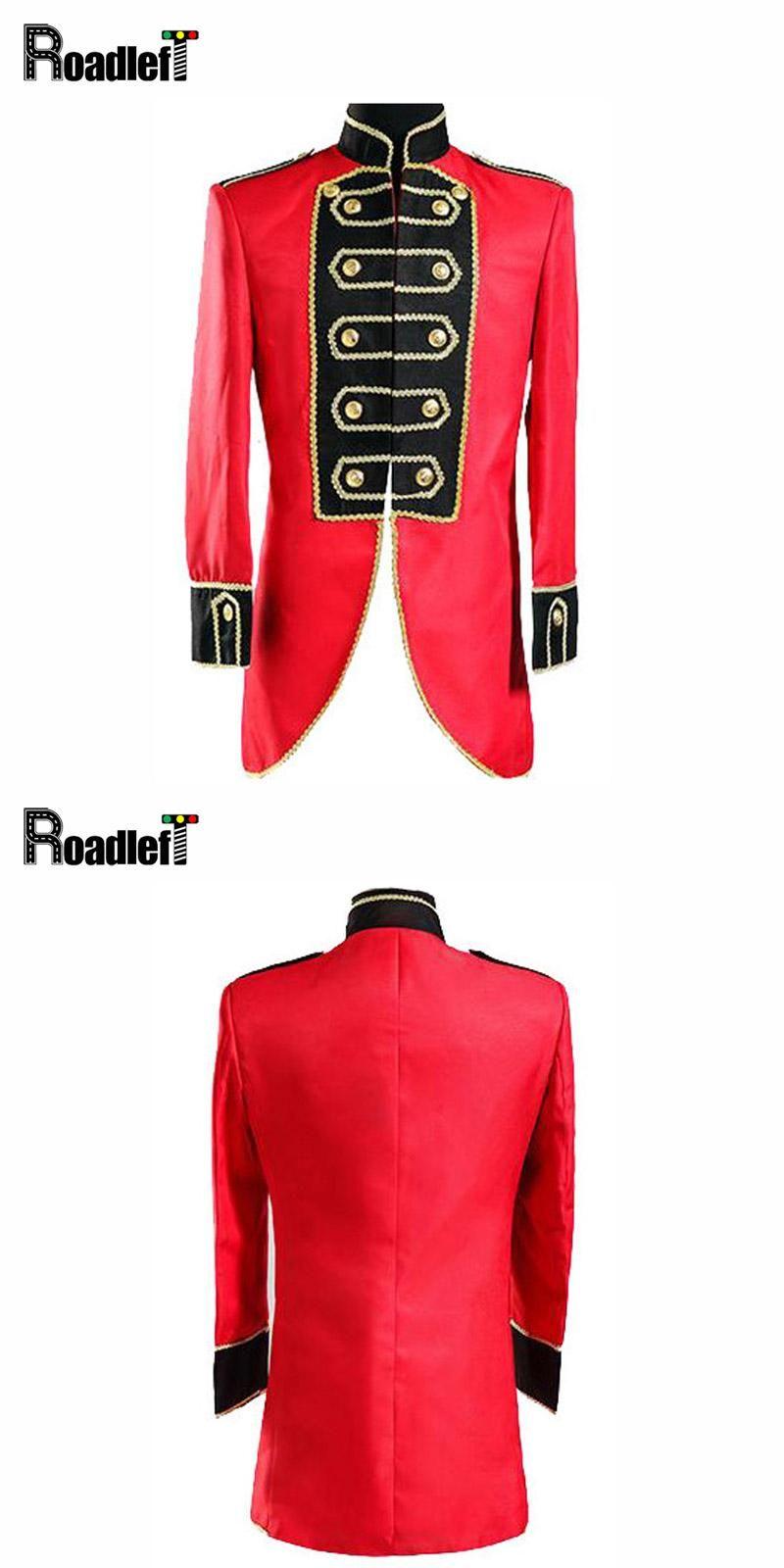 Mens Red Black Tuxedo Prom Suits Men Groom Gold Wedding Dress Suit ...