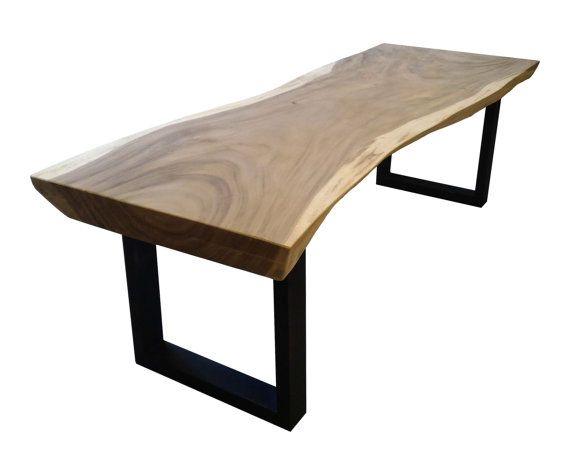 Cette Table Dexception En Bois Massif De Suar Avec Pieds En