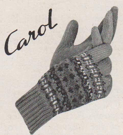 Carol fairisle gloves knit on two needles | Crochet/Knitting ...