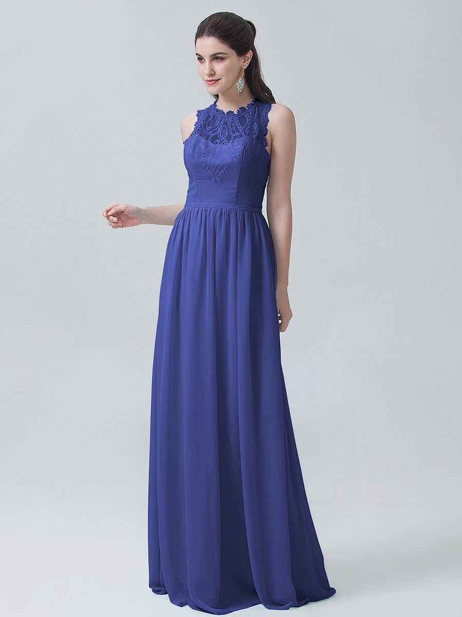 Soft Lace Chiffon Dress Plus and Petite sizes available