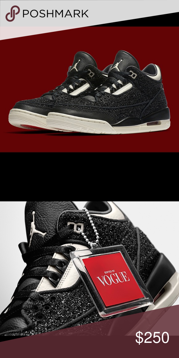 c70ecfd160f Air Jordan 3 retro AWOK Vogue black Brand new with box. Sz 10.5 men's.  Comes with dust bags. Jordan Shoes Sneakers