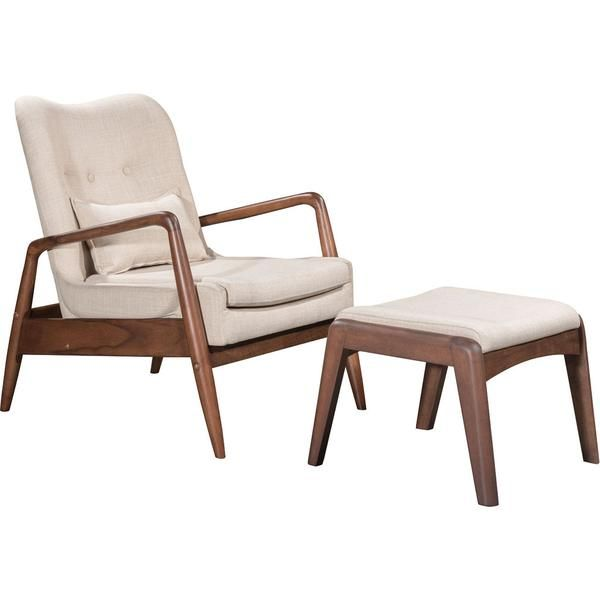 Braden Lounge Chair Ottoman Beige Chair And Ottoman Set Fabric Lounge Chair Modern Lounge Chairs