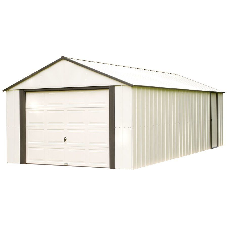 Yardcraft 12 Ft W X 26 Ft D Solid Wooden Garage Shed In 2020 Steel Storage Sheds Shed Storage Built In Storage