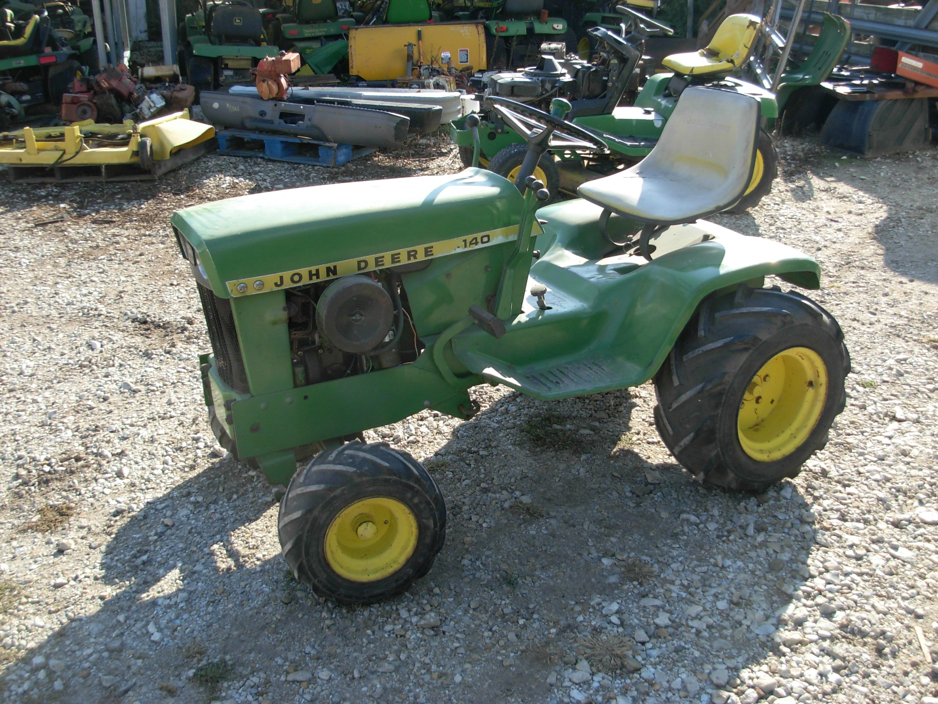 Used john deere tractors for sale j d lawn tractor for Garden equipment for sale
