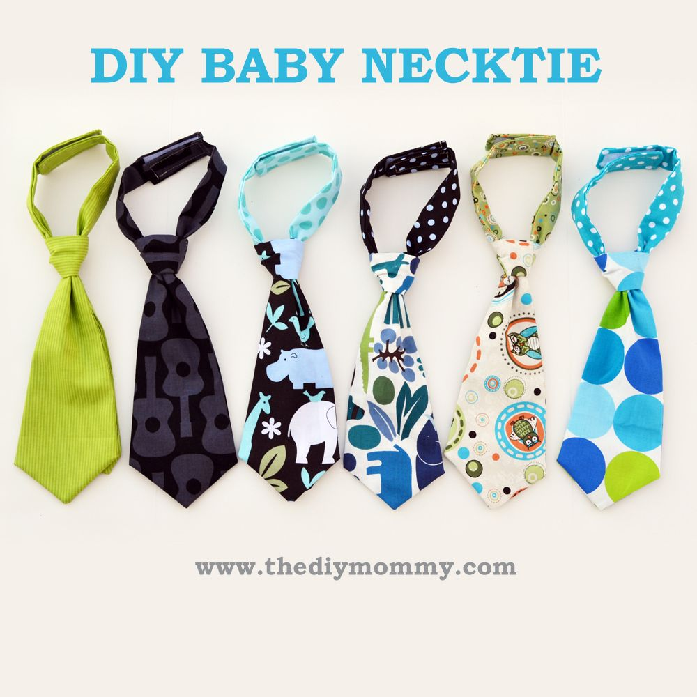 Baby necktie free tutorial from The DIY Mommy | Sew simple ...