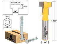 2pcs 1//4Inch Shank T-Slot Cutter Router Bit Set For 3//8 /& 1//2 Hex Bolt Tools