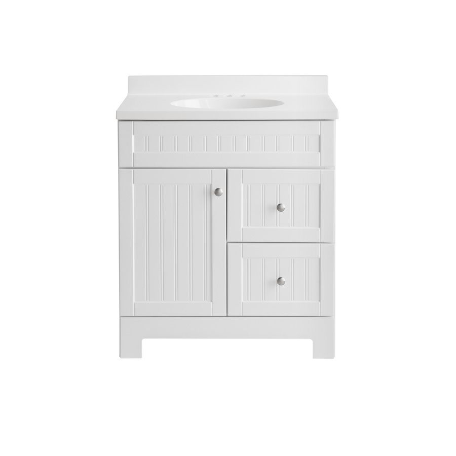 Wondrous Style Selections Ellenbee White Integrated Single Sink Download Free Architecture Designs Scobabritishbridgeorg