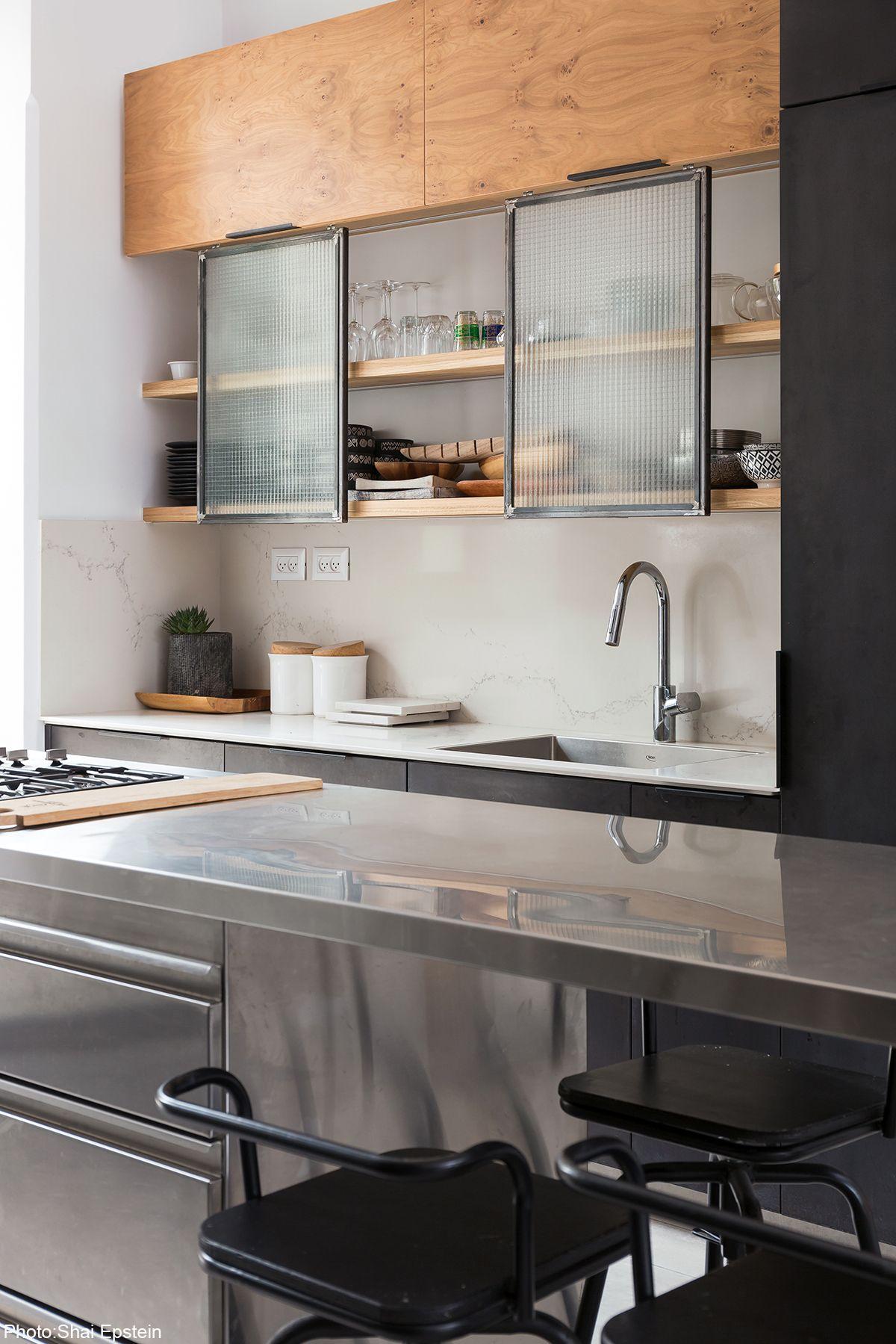 160sqm House Jerusalem Industrial Kitchen Design Modern