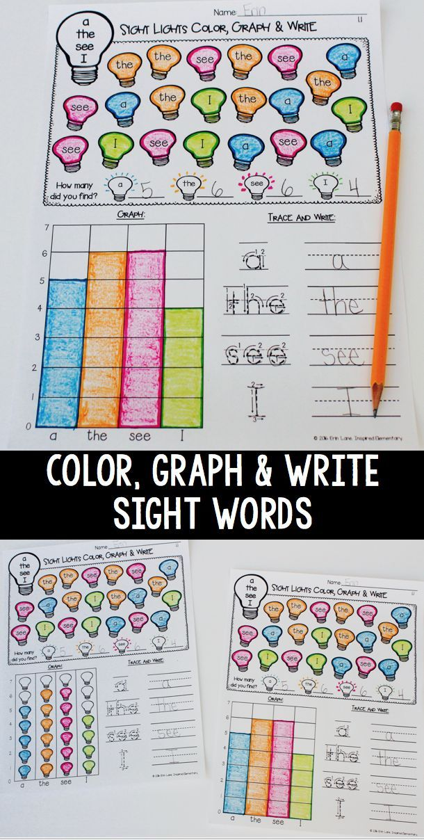 Sight Word Graphing BUNDLE! (Pre-Primer, Primer, First Grade Words