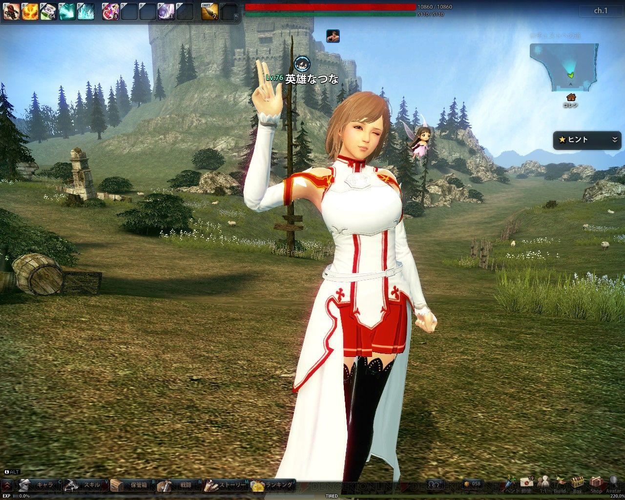 Sword Art Online X Mabinogi Heroes/Vindictus Asuna & gang