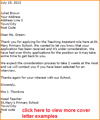 application teacher jobb acknowledgement letter sample letters for teaching jobs cover