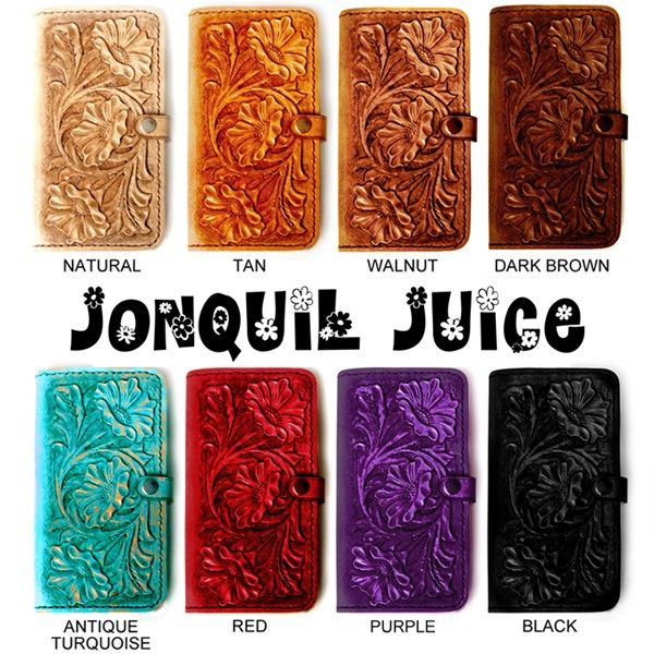 promo code a1980 7deab Hand Tooled Leather iPhone Case - Western Style floral folio style ...