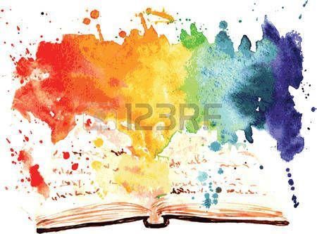 Pile De Livres Aquarelle Peinte Livre Contenant Tout Un Monde
