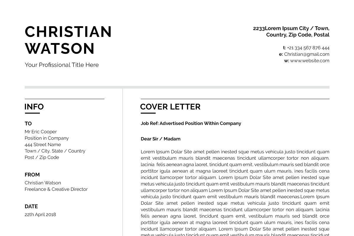 Clean Resume/CV in 2020 Clean resume, Resume cv, Word file