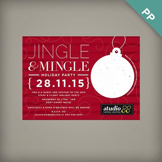 Jingle Mingle Corporate Holiday Party Invitations – Holiday Office Party Invitations