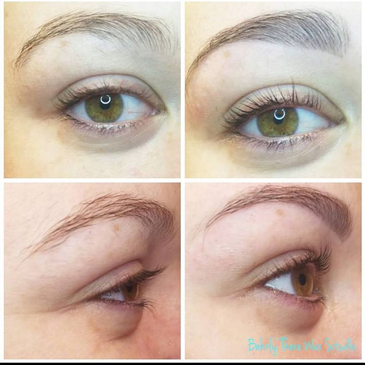Before and after lash Lift lash tint eyebrow wax and ...