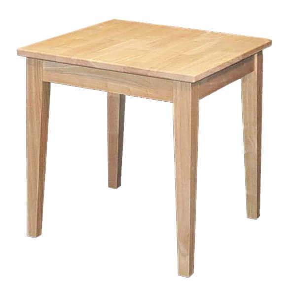 Simple Shaker Style Solid Wood Side Table End Tables