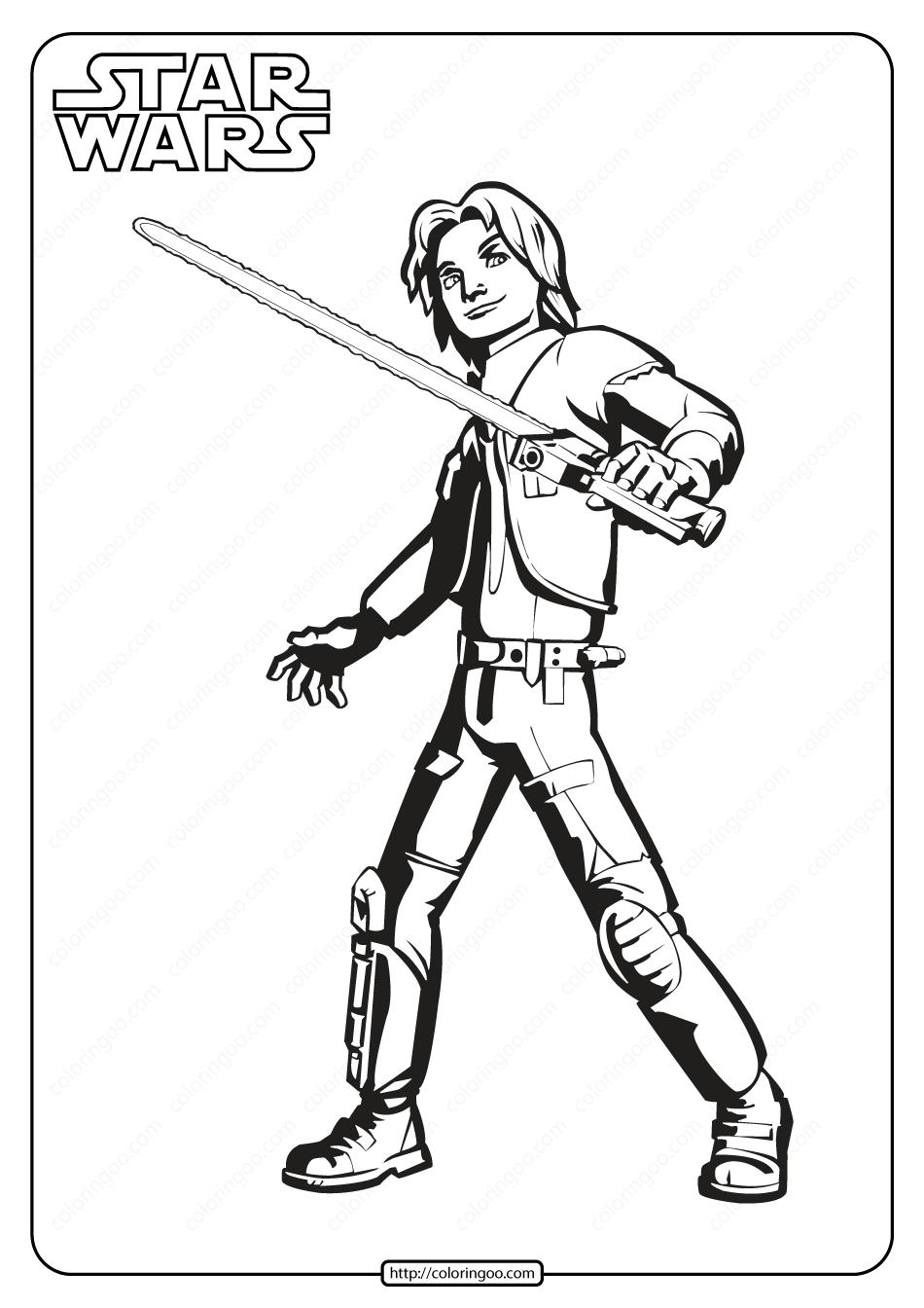 Printable Star Wars Ezra Bridger Coloring Pages  Star wars ezra
