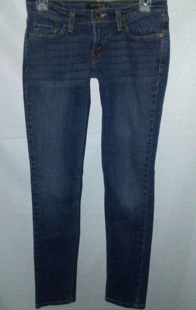 LEVIS Too Superlow 524 Denim Blue Skinny Jeans Womens 5 M   Blue skinny  jeans 6f89278e10