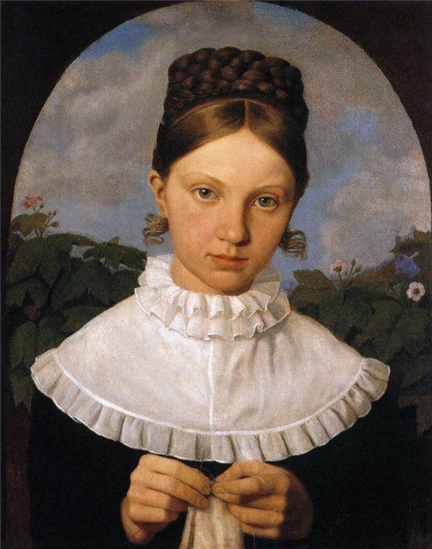 Heinrich Maria von Hess - Portrait of Fanny Gail