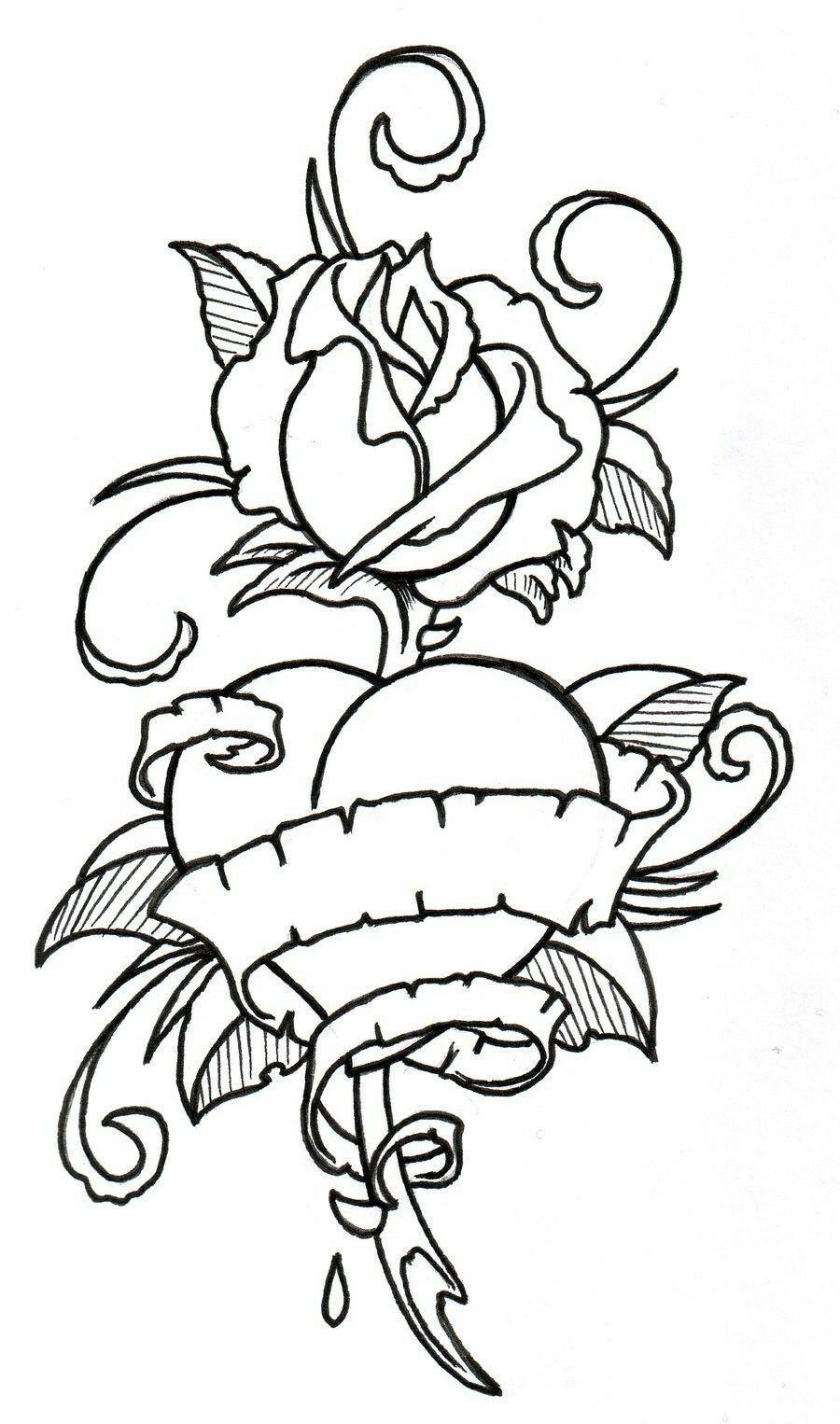 Pin by Angela Jones on doodles & designs   Outline drawings, Rose coloring pages, Coloring pages