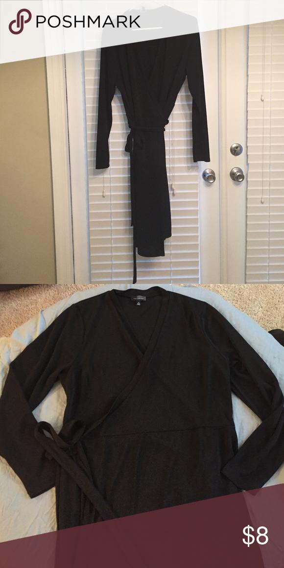Black Wrap Dress Classic Black Wrap Dress The Limited Dresses Midi