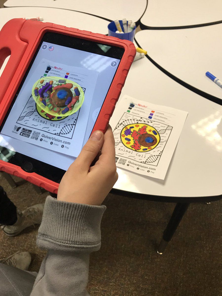 Mrs. Kerr on Augmented reality, 3d cell, Animal cell