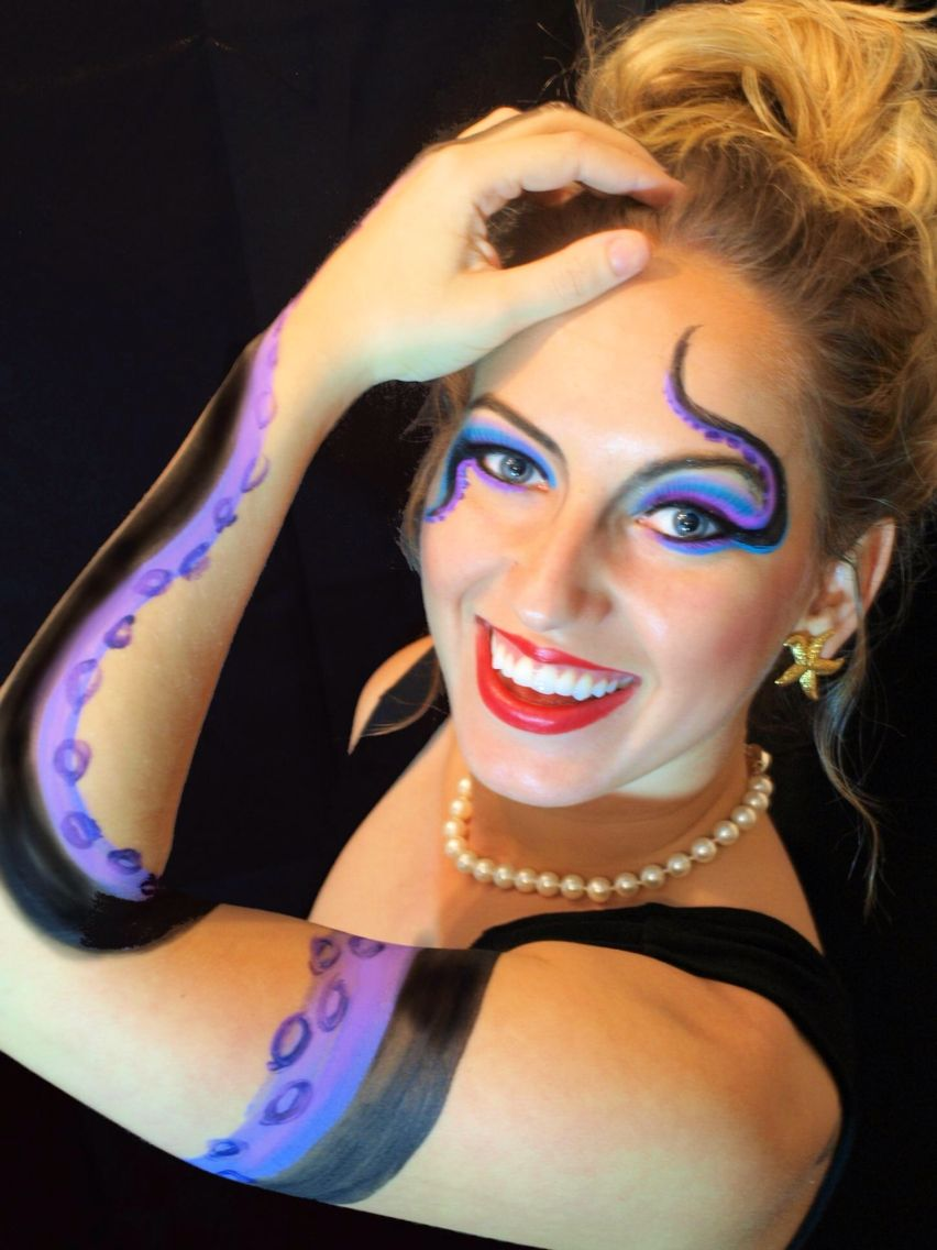 Ursula DIY costume. Disney make-up. | Holiday fun! | Pinterest ...