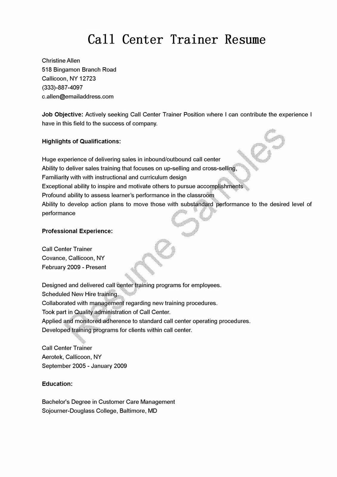Call Center Jobs Description Resume Beautiful Resume Samples Call Center Trainer Resume Sample Proposal Templates Writing A Business Proposal Resume