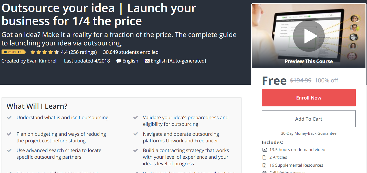 free outsource your idea launch your business for 1 4 the price