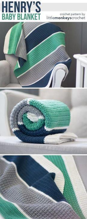 Photo of Henry's Baby Blanket Crochet Pattern | Kostenlose moderne Babydecke …
