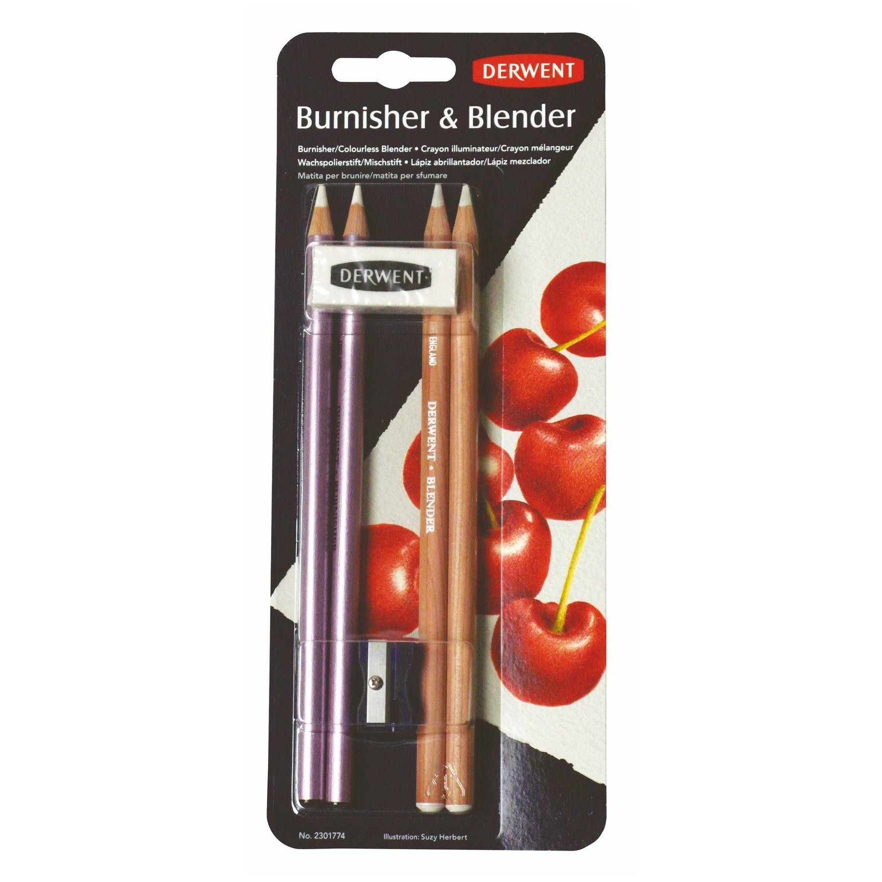 Derwent blender burnisher pencils easer sharpener pack