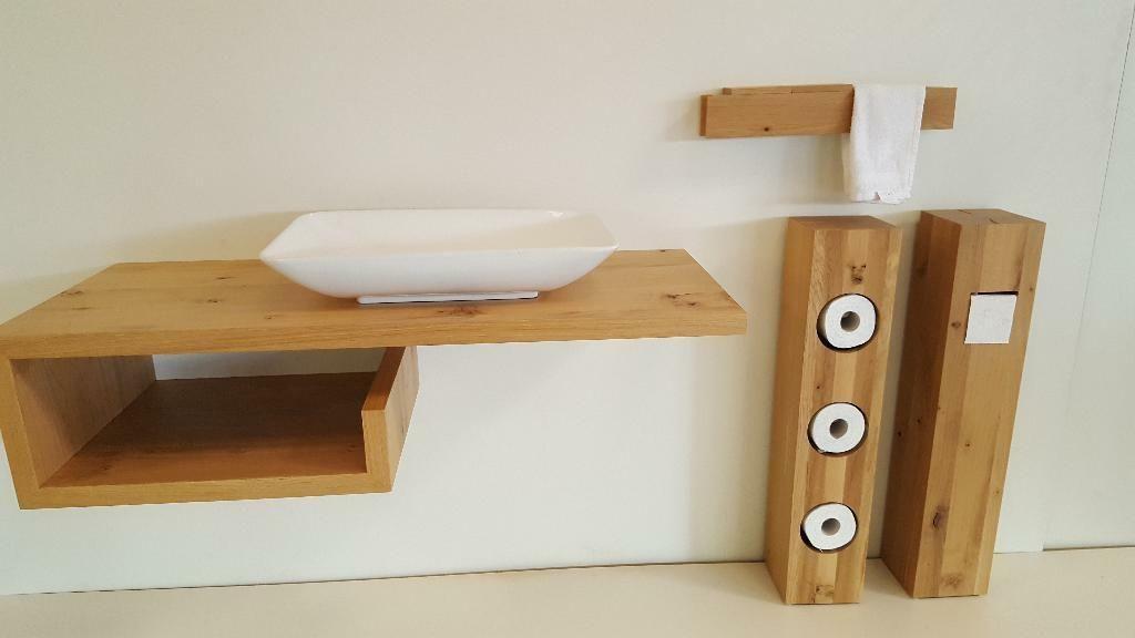 Waschtisch Platte Brett Regal Fensterbank Eiche Massiv Holz Neu In Baden Wurttemberg Esslingen Badezimm Unterschrank Waschtischplatte Eiche Wc Rollenhalter