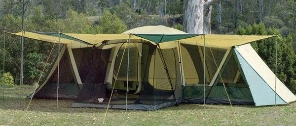 Outdoor Connection Galaxy Plus Dome Tent has a sreen room and awnings all around ! & Outdoor Connection Galaxy Plus Dome Tent has a sreen room and ...