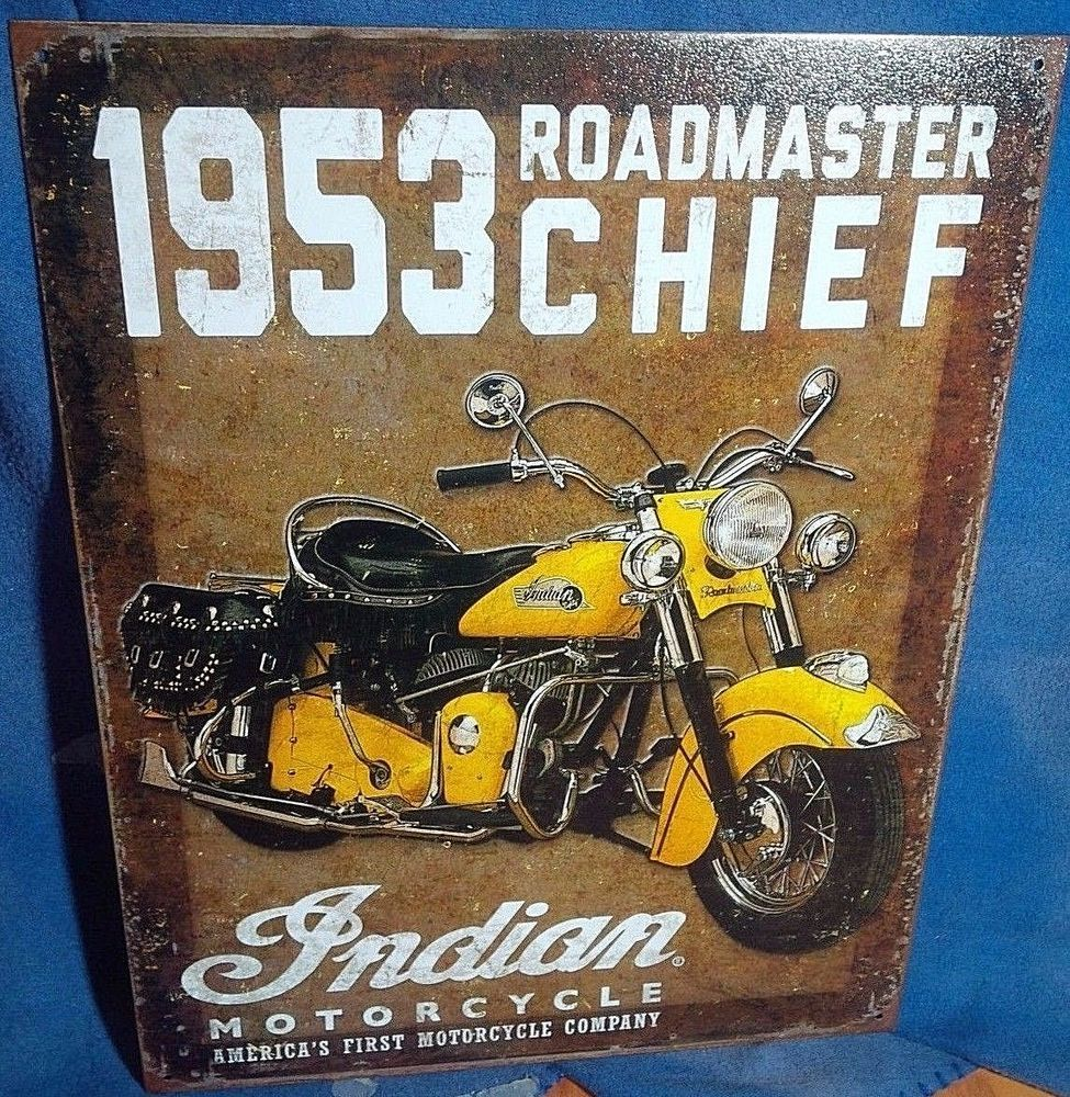 MAGNET Motorcycle Ad PHOTO MAGNET Indian Motorcycle 1934