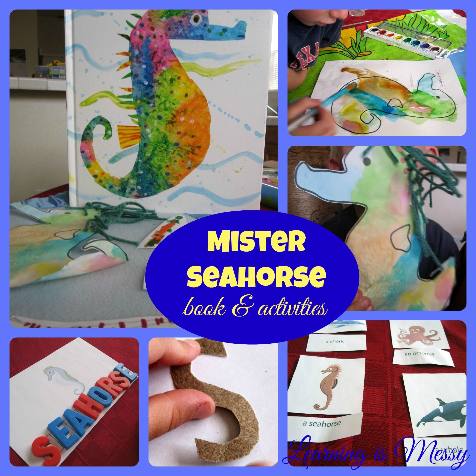 Mister Seahorse Book And Extension Activities Seahorse Eric Carle Art Preschool Activities [ 2000 x 2000 Pixel ]