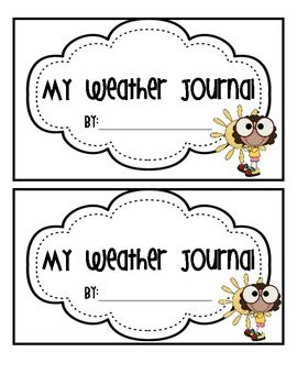 This is a journal to use during your weather unit where students record the weather over a period of time. They can do this as a center or during w...