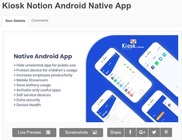 Kiosk Notion Android Native App   Kiosk Notion Android app