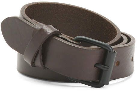 Men S Made In Italy Leather Belt
