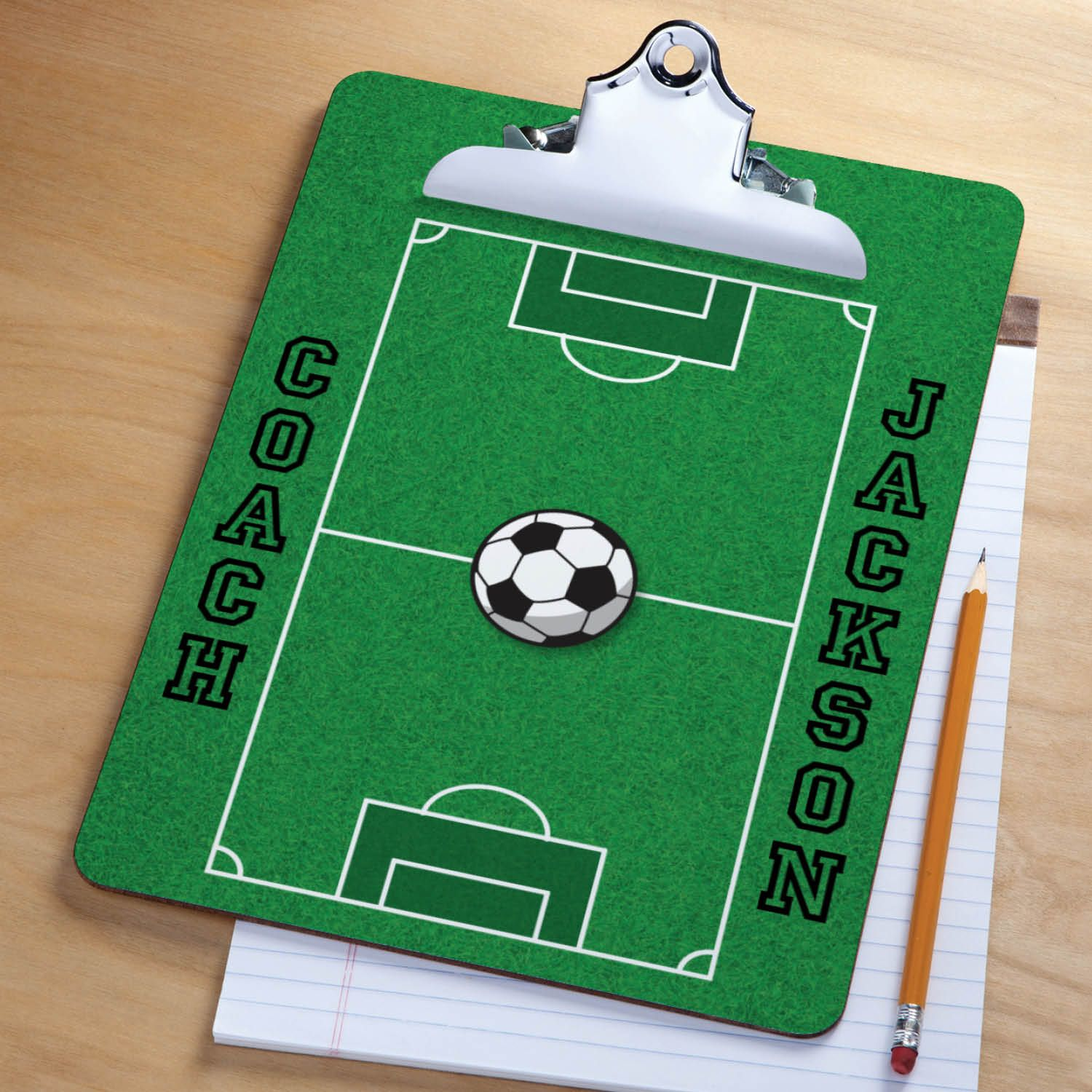 Our Personalized Clipboard Makes A Great Gift For The Soccer Coach Or Fan On Your List Soccer Coach Gifts Personalized Soccer Soccer Clipboard