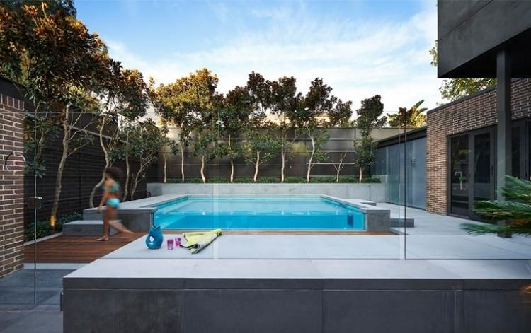 Jardin avec piscine 24 photos: designs splendides par OFTB | plage ...