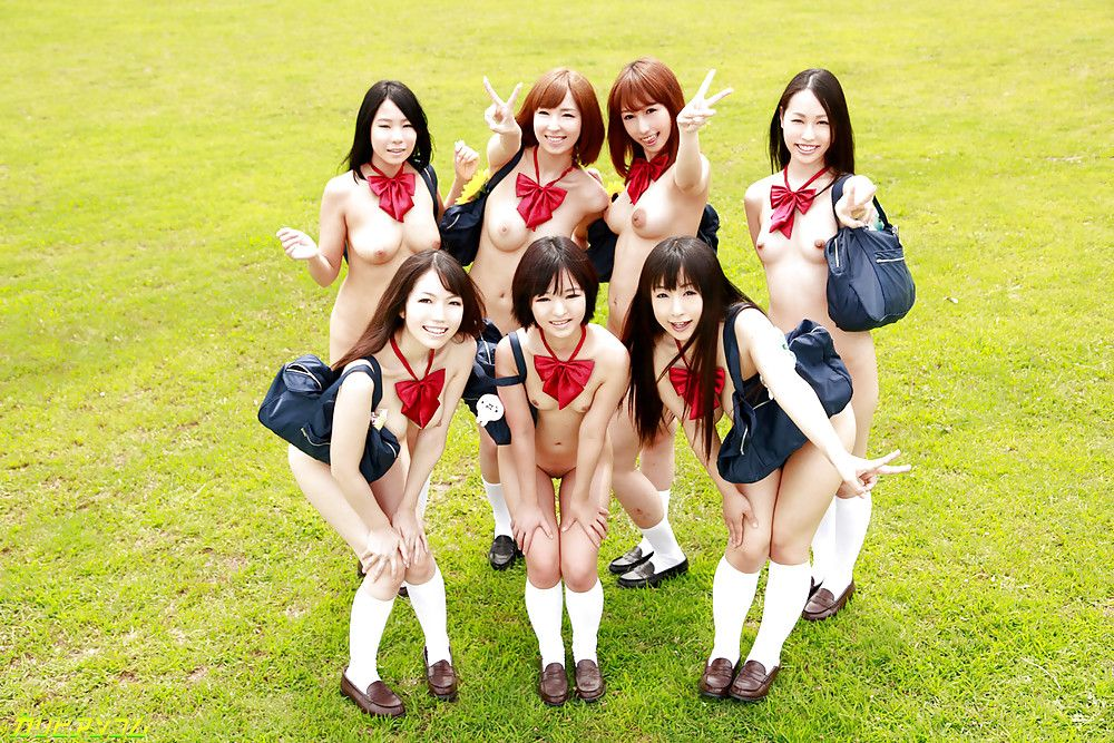 asian school group - A Japanese girls' orgy uncensored porn.This high school has a rule.