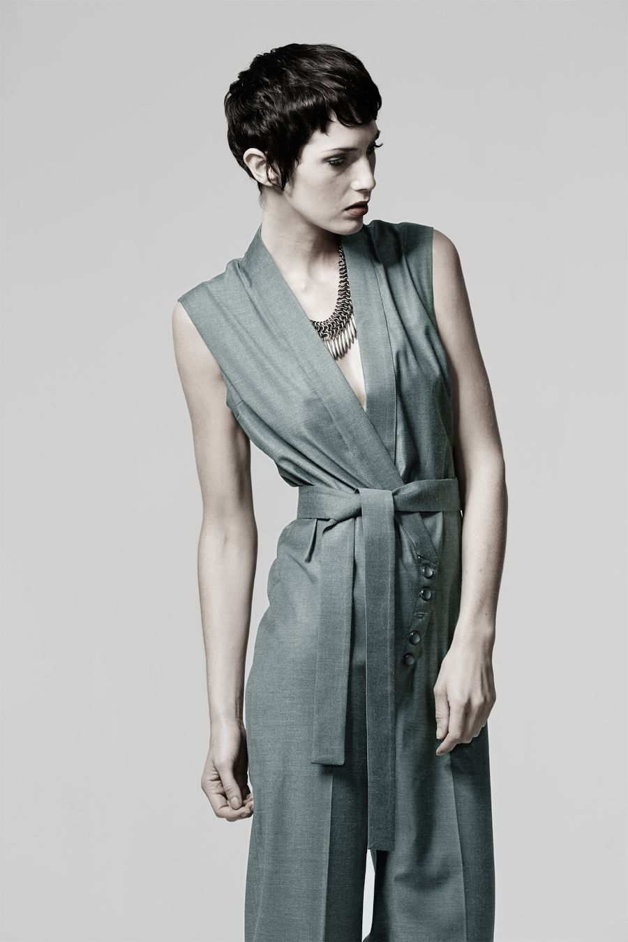 Lux jumpsuit sewing pattern by Ralph Pink, featuring gillet style ...