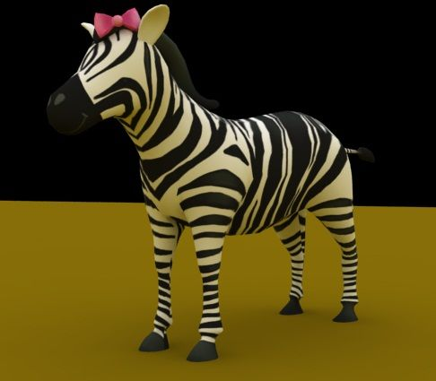 Umi la #cebra #fashionista modelo #3D #LearnSafari #learn #Spanish #bilngual #children