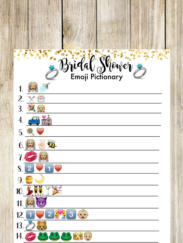 bridal shower pictionary emoji game bridal shower game