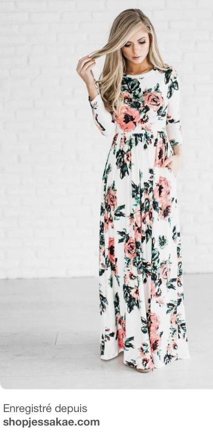 Love This Dress It S Beautiful Long Fl Dresses Casual Bridesmaid