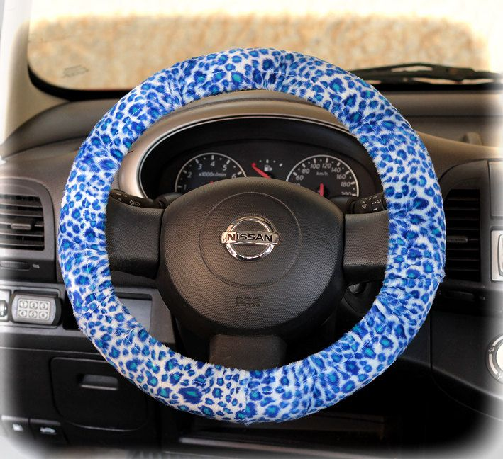 Steering Wheel Cover Cheetah Print Wheel Car Accessories Blue Mint