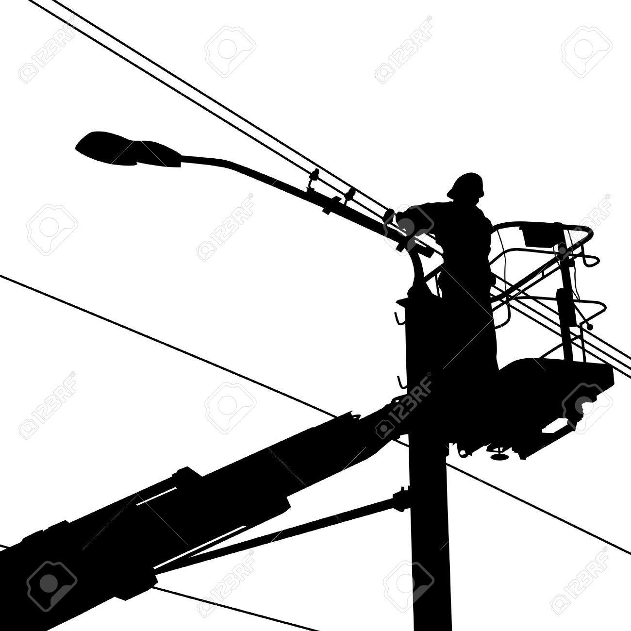 Electric Clipart Electric Pole - Electric Pole Clipart, HD Png Download -  kindpng