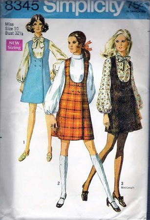 Simplicity Junior Misses Jumper Blouse Sewing Pattern #8345 | One ...