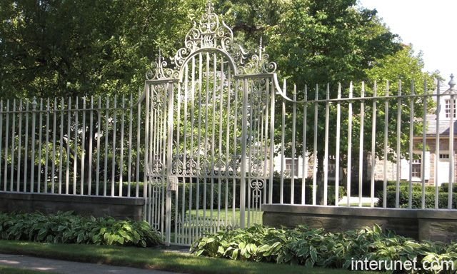 Wrought Iron Fence White Picture Interunet